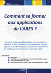 "Brochure ""Comment se former aux applications de l'ABES ?"""